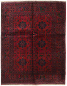 Afghan Khal Mohammadi Covor 155X194 Orientale Lucrat Manual Roșu-Închis (Lână, Afganistan)