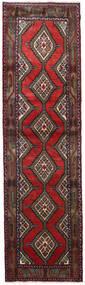 Hamadan Covor 84X305 Orientale Lucrat Manual Roșu-Închis/Negru (Lână, Persia/Iran)