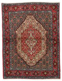 Senneh Covor 122X164 Orientale Lucrat Manual Roșu-Închis/Gri Închis (Lână, Persia/Iran)