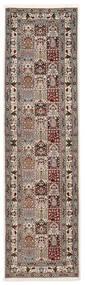 Moud Sherkat Farsh Covor 80X300 Orientale Lucrat Manual Gri Deschis/Bej (Lână/Mătase, Persia/Iran)