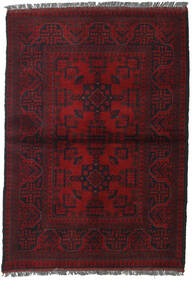 Afghan Khal Mohammadi Covor 103X146 Orientale Lucrat Manual Roșu-Închis (Lână, Afganistan)