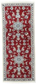 Nain Covor 80X200 Orientale Lucrat Manual Roșu-Închis/Roşu (Lână, Persia/Iran)
