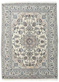Nain Covor 145X204 Orientale Lucrat Manual Bej/Gri Închis (Lână, Persia/Iran)