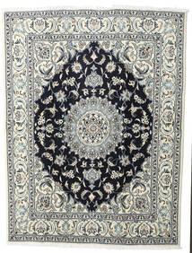 Nain Covor 200X245 Orientale Lucrat Manual Gri Deschis/Negru (Lână, Persia/Iran)