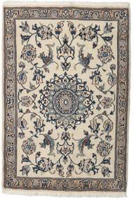 Nain Covor 91X134 Orientale Lucrat Manual Gri Deschis/Bej (Lână, Persia/Iran)