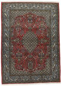 Qom Kork/Mătase Covor 113X154 Orientale Lucrat Manual Gri Închis/Negru (Lână/Mătase, Persia/Iran)