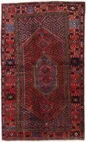 Hamadan Covor 132X218 Orientale Lucrat Manual Roșu-Închis/Negru (Lână, Persia/Iran)