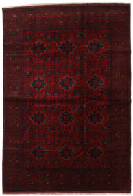 Afghan Khal Mohammadi Covor 201X292 Orientale Lucrat Manual Maro Închis/Roșu-Închis (Lână, Afganistan)