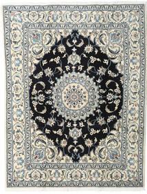 Nain Covor 200X245 Orientale Lucrat Manual Bej/Negru (Lână, Persia/Iran)