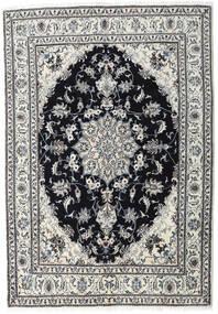 Nain Covor 164X236 Orientale Lucrat Manual Gri Deschis/Negru (Lână, Persia/Iran)
