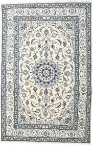 Nain Covor 195X299 Orientale Lucrat Manual Bej/Gri Deschis (Lână, Persia/Iran)