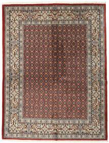 Moud Covor 151X198 Orientale Lucrat Manual Gri Deschis/Roșu-Închis (Lână/Mătase, Persia/Iran)