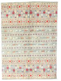 Kazak Covor 142X199 Orientale Lucrat Manual Bej/Gri Deschis (Lână, Pakistan)