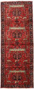 Hamadan Covor 105X284 Orientale Lucrat Manual Roșu-Închis/Ruginiu (Lână, Persia/Iran)