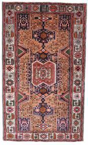 Hamadan Covor 130X222 Orientale Lucrat Manual Maro Închis/Roșu-Închis (Lână, Persia/Iran)