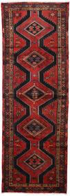Hamadan Covor 100X290 Orientale Lucrat Manual Roșu-Închis/Negru (Lână, Persia/Iran)