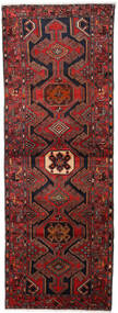 Hamadan Covor 108X295 Orientale Lucrat Manual Roșu-Închis/Negru (Lână, Persia/Iran)