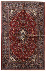 Kashan Covor 135X209 Orientale Lucrat Manual Roșu-Închis/Maro Închis (Lână, Persia/Iran)