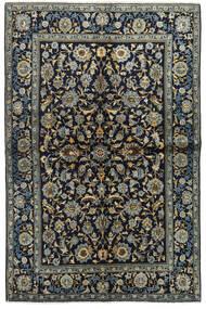 Kashan Covor 134X205 Orientale Lucrat Manual Albastru Închis/Gri Închis (Lână, Persia/Iran)