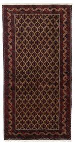 Beluch Covor 96X188 Orientale Lucrat Manual Roșu-Închis/Maro Închis (Lână, Persia/Iran)