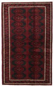 Beluch Covor 125X204 Orientale Lucrat Manual Maro Închis/Roșu-Închis (Lână, Persia/Iran)
