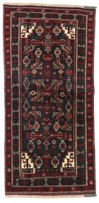 Beluch Covor 98X205 Orientale Lucrat Manual Negru/Roșu-Închis (Lână, Persia/Iran)