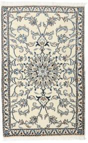 Nain Covor 88X140 Orientale Lucrat Manual Bej/Gri Închis (Lână, Persia/Iran)