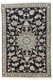 Nain Covor 90X135 Orientale Lucrat Manual Albastru Închis/Gri Deschis/Gri Închis (Lână, Persia/Iran)