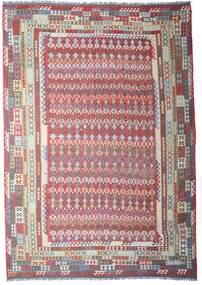 Chilim Afghan Old Style Covor 312X448 Orientale Lucrate De Mână Gri Deschis/Gri Închis Mare (Lână, Afganistan)