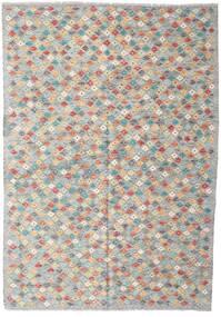 Chilim Afghan Old Style Covor 168X242 Orientale Lucrate De Mână Gri Deschis/Gri Închis (Lână, Afganistan)