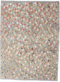 Chilim Afghan Old Style Covor 179X234 Orientale Lucrate De Mână Gri Deschis (Lână, Afganistan)