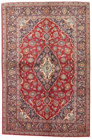 Kashan Covor 141X215 Orientale Lucrat Manual Roșu-Închis/Maro (Lână, Persia/Iran)