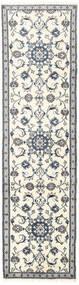 Nain Covor 75X281 Orientale Lucrat Manual Bej/Gri Deschis (Lână, Persia/Iran)