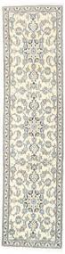 Nain Covor 77X304 Orientale Lucrat Manual Gri Deschis/Bej (Lână, Persia/Iran)