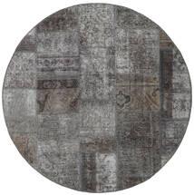 Patchwork - Persien/Iran Covor Ø 150 Modern Lucrat Manual Rotund Gri Închis/Gri Deschis (Lână, Persia/Iran)