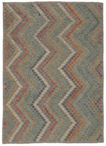Chilim Afghan Old Style Covor 213X285 Orientale Lucrate De Mână Gri Deschis/Gri Închis (Lână, Afganistan)