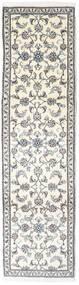 Nain Covor 77X284 Orientale Lucrat Manual Bej/Gri Deschis (Lână, Persia/Iran)