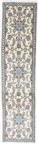 Nain Covor 72X304 Orientale Lucrat Manual Bej/Gri Deschis (Lână, Persia/Iran)