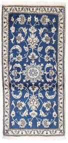 Nain Covor 70X135 Orientale Lucrat Manual Gri Deschis/Albastru Închis (Lână, Persia/Iran)