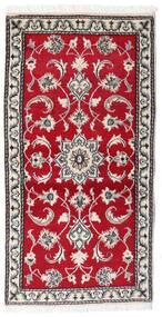 Nain Covor 70X139 Orientale Lucrat Manual Roşu/Gri Deschis (Lână, Persia/Iran)