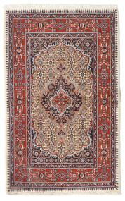 Moud Covor 74X119 Orientale Lucrat Manual Roșu-Închis/Bej (Lână/Mătase, Persia/Iran)
