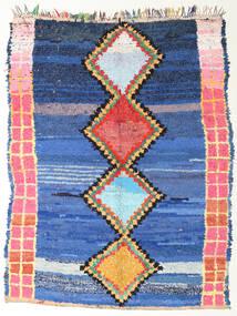 Berber Moroccan - Boucherouite Covor 172X220 Modern Lucrat Manual Albastru/Albastru Închis ( Maroc)