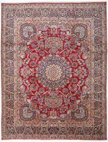 Kerman Covor 303X391 Orientale Lucrat Manual Gri Închis/Roșu-Închis Mare (Lână, Persia/Iran)