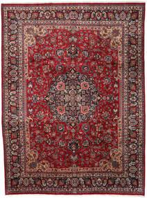 Mashhad Covor 290X387 Orientale Lucrat Manual Roșu-Închis/Gri Închis Mare (Lână, Persia/Iran)