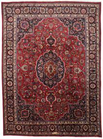 Mashhad Covor 297X402 Orientale Lucrat Manual Roșu-Închis/Maro Mare (Lână, Persia/Iran)