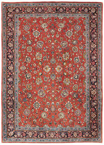 Sarouk Covor 214X302 Orientale Lucrat Manual Roșu-Închis/Gri Deschis (Lână, Persia/Iran)