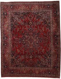 Mashhad Covor 300X382 Orientale Lucrat Manual Roșu-Închis/Maro Închis Mare (Lână, Persia/Iran)