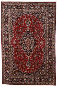 Mashhad Covor 195X297 Orientale Lucrat Manual Roșu-Închis/Negru (Lână, Persia/Iran)