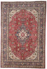 Tabriz Covor 196X298 Orientale Lucrat Manual Roșu-Închis/Gri Deschis (Lână, Persia/Iran)