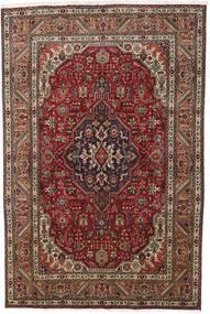 Tabriz Covor 193X290 Orientale Lucrat Manual Maro Închis/Roșu-Închis (Lână, Persia/Iran)